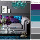 Grey and Purple Bathroom Inspiration