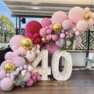DIY Baby Shower Party WEDDING Decoration Balloon Garland Arch Kit White Gold Retro Skin Ballon Arch Kit Kid Adult Wedding Decor
