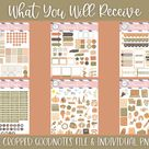 Classic November Digital Sticker Set   Pre Cropped Stickers   Goodnotes File   Individual PNG Images