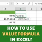 How to use VALUE Formula in Excel