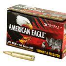 Federal American Eagle Varmint & Predator 223 Rem 50 Grain Jacketed Hollow Point 50 Round Box AE22350VP