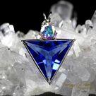 Siberian Blue Quartz Mystic Topaz Angelic Star Pendant