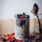 VANILLA CHIA OAT PUDDING with LOCAL BC BLUEBERRIES