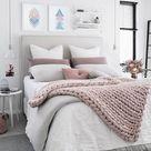 Large Knit Blanket Chunky Crochet