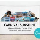 Custom Cruise Photo Collage | Cruise Line Holiday Memory Collage