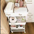 Diaper + Nursing Cart Essentials, but make it cute