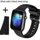 Men Smartwatch - B add black steel / United Kingdom