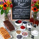 Cake Mix Waffles {+ Party Planning Tips}