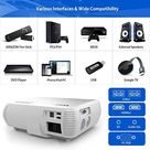 YABER Y30 Native 1080P Projector 7200 Lux Upgrade Full HD Video Projector 1920 x 1080, ±50° 4D Keystone Correction Support 4k & Zoom,LCD LED Home Theater Projector Compatible with Phone,PC,TV Box,PS4
