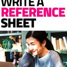 How to Quickly Write a Modern Reference Sheet (with Examples)