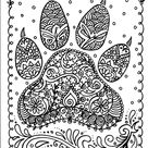 INSTANT Download Dog Paw Print You be the Artist Dog lover/animal/digital/stamp/paw