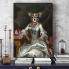 Lady in a silver dress   custom pet portrait