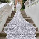 Malia Mermaid Wedding Dress by Blue by Enzoani   WeddingWire.com