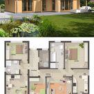 BUNGALOW 128 mit Walmdach und Wintergarten Erker - | HausbauDirekt.de