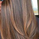 63 Charming hair colour ideas & hairstyles : Charming dark hair with brown caramel