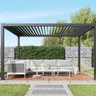 solidCUBE Pergola / Pavillon aus pulverbeschichtetem Aluminium – freistehend