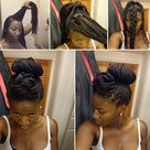 Box Braids Updo