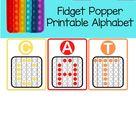 Colorful Fidget Popper Alphabet Printable   Letter Activity   Fidget Popper Printable   Fidget Activity   Fidget Classroom Activity  Teacher
