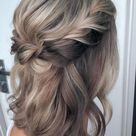 20 Beautiful Half Up Half Down Hairstyle Women Can You Now - VivieHome