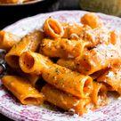 Rigatoni with Creamy Brandy Tomato Sauce - The Original Dish