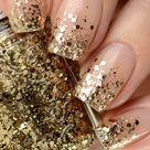 Gold Glitter Nail Polish