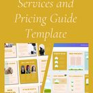 Customizable Services and Pricing Guide Template   Canva Digital Download