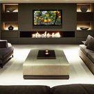 50 Inspirational TV Wall Ideas | Cuded