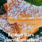 Lemon Bars amerikanischer Zitronenkuchen