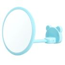 360 Rotation Suction Cup Fogless Shower Shaving Shave Bathroom Mirrors - Sky Blue