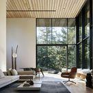Modernes Wohnzimmer   Wohnzimmer in Erdtönen   Stehleuchte