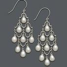 Macy's Cultured Freshwater Pearl Chandelier Earrings in Sterling Silver 6mm & Reviews   Earrings   Jewelry & Watches   Macy's