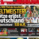 Bilder: Pressestimmen zum WM-Finale Deutschland - Argentinien