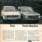 1968 BMW 1600 and 2002 Advertisement Road & Track November 1968