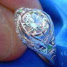 1920s Art Deco European Diamond Platinum Engagement Ring   Etsy