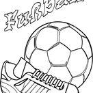 Ausmalbild Fußball Fussballschuh Und Ball Ausmalen - Ausmalbilder von Fußball Malvorlagen Windowcolor Zum Drucken