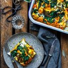 Saftige Kürbislasagne mit Spinat & Salbei · Eat this! Foodblog • Vegane Rezepte • Stories
