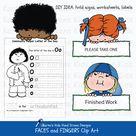 Clip Art of Faces and Fingers (Karen's Kids Clipart)