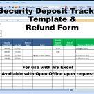 Rental Deposit Tracking Form, Landlord Tenant Security Deposit Agreement,  Rent Deposit Return Tracking