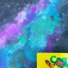 DIY Galaxy Melting Crayola Crayons