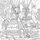 Native Americans - Printable Adult Coloring Page from Favoreads Coloring book pages for adults and kids Coloring sheets Coloring designs