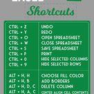 Microsoft Excel Shortcuts ?