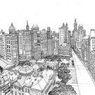 Coloriages anti stress New-York