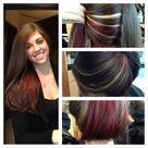 Red Highlights Hair