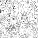 Sweet Couple - Printable Adult Coloring Page from Favoreads (Coloring book pages for adults and kids, Coloring sheets, Colouring designs)