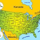 Nordamerika   Länder und Bundesstaaten der USA
