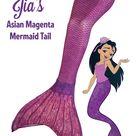 Asian Magenta Mermaid Tail