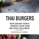 Thai Turkey Burger Recipe w/ Asian Slaw