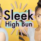 Protective Style How To: From CURLY HAIR to SLEEK HIGH BUN | Top Knot Tutorial