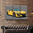 2019 Acura NSX Canvas Set - 3 Pieces / Large / Gallery Wrap