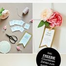 DIY Hochzeitskalender als Geschenk für die Braut basteln - so geht's